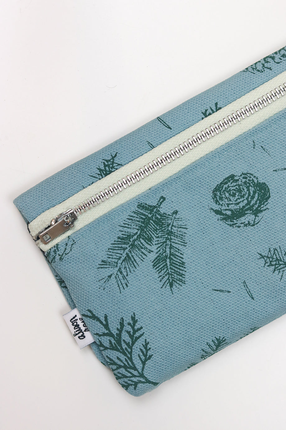 Blue/Black Pine Zipper Fabric Wallet