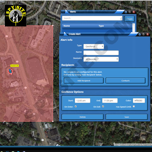 GPS Console Alerts - Geofence