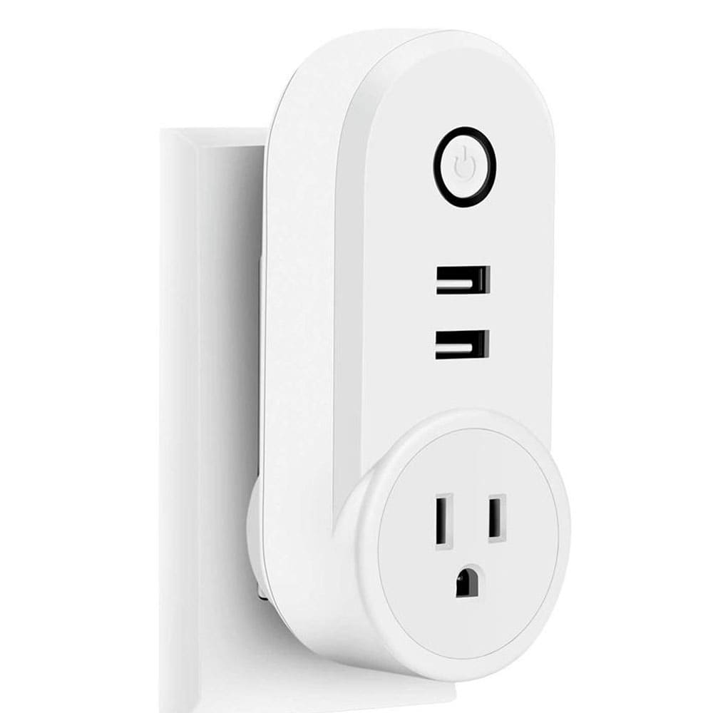 Wi-Fi Smart Wall Outlet - Remote Control w Alexa Echo and Google Home