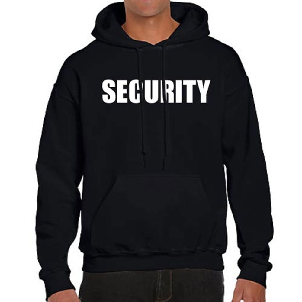 Cotton Blend Black Security Hoodie Jacket with Pocket Uniform