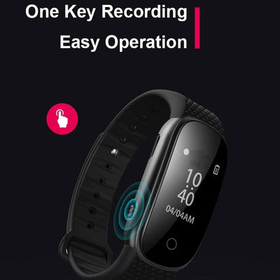 Fit band watch voice recorder
