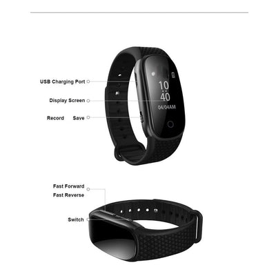 Spy Fit band watch voice recorder
