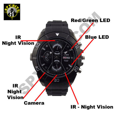 Night Vision Wristwatch Hidden Camera