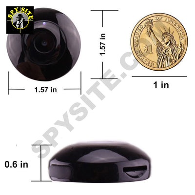 Miniature Wi-Fi Camera with Night Vision - Magnetic & Wearable