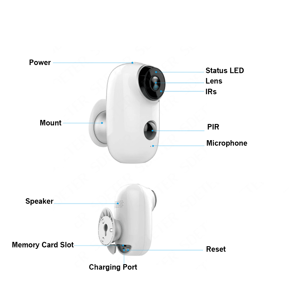 True Wireless Outdoor PIR WiFi Camera with Night Vision DVR