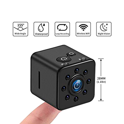 Waterproof Mini Cube Wi-Fi Camera with Night Vision & Wide Angle