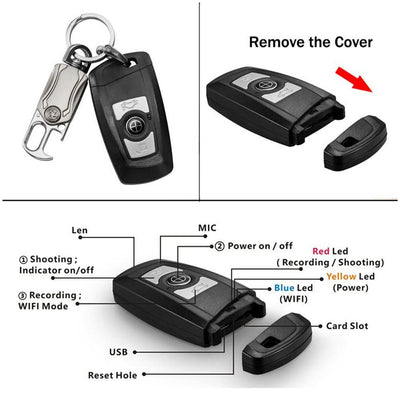4 K Wifi Car Keyfob bodyworn Camera DVR