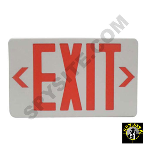Emergency Exit Sign Hidden Camera