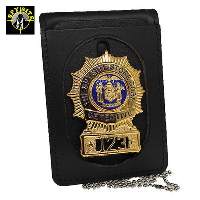 Oval cut badge wallet