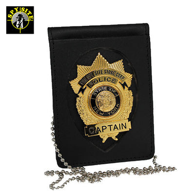 Shield cut badge wallet