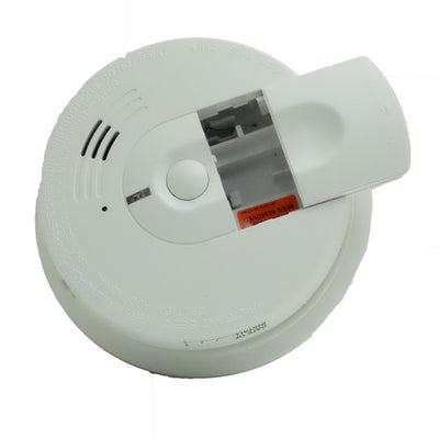 Top view smoke detector hidden camera with direct current hardwire