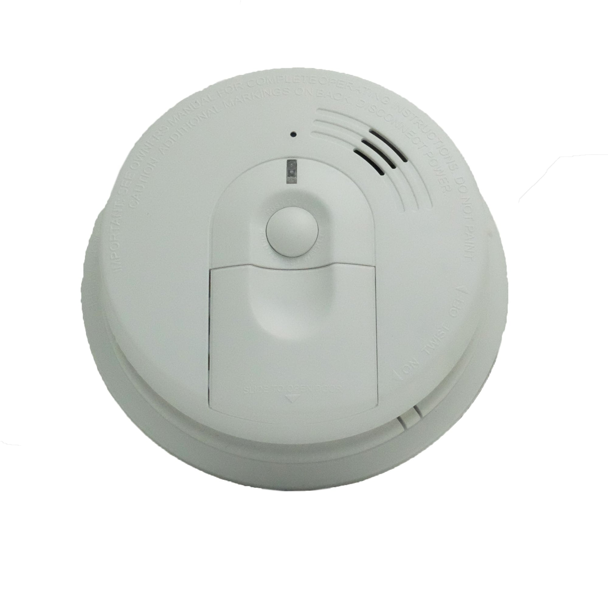 Top view smoke detector spy camera with direct current hardwire