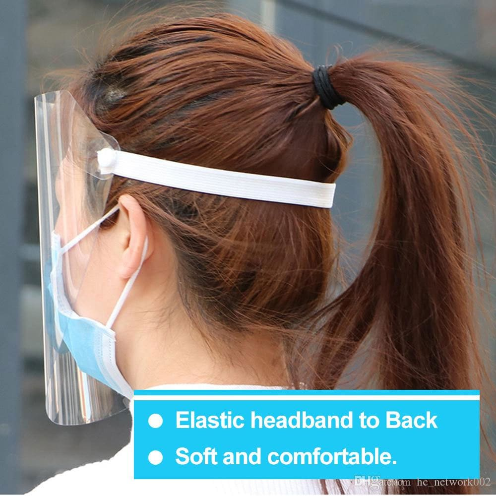 Re-Usable Face Shield - Personal Clear Plastic Protection