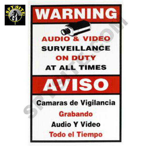 Surveillance Notification Signs