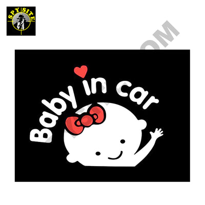 Baby in Car Vehicle Decal