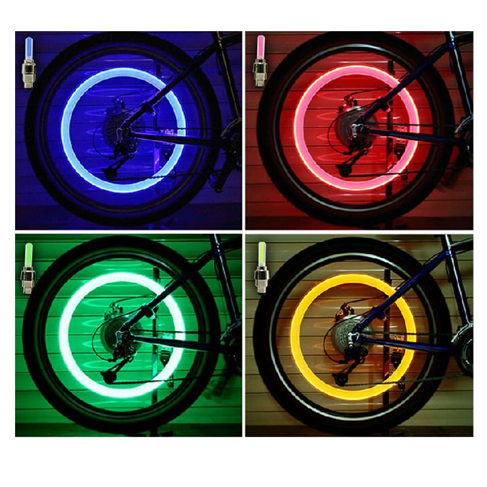 Tire Valve Lights - Bicycle Safety Lights - Auto Fashion