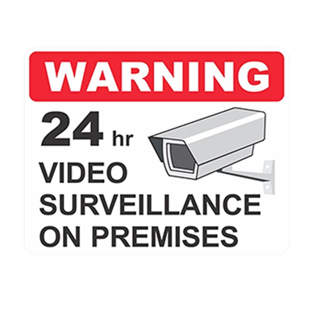 Video Surveillance Notice Sign & Camera Warning Decal