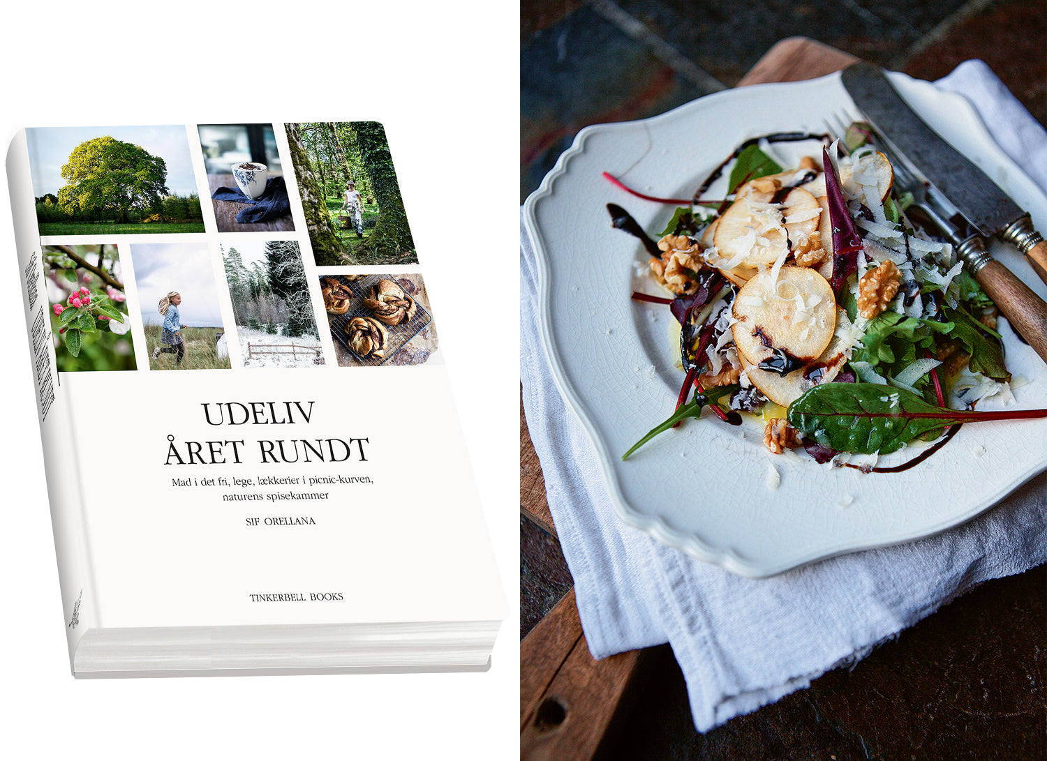 Cookbook | Udeliv året rundt | Danish version | shipped world wide