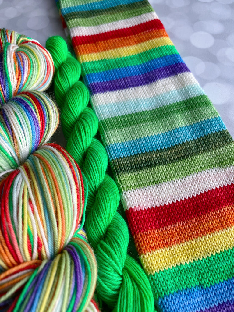 Irish You A Beautiful Rainbow  - 14 Stripe - Self Striping Yarn