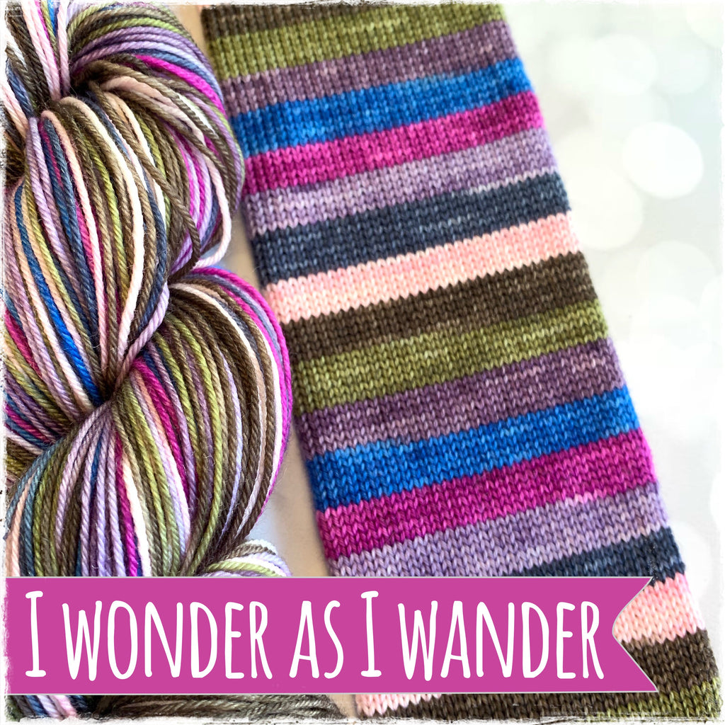 I Wonder As I Wander - SERENDIPITY - Self Striping Yarn