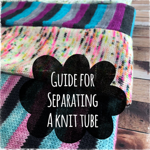 A Guide For Separating A Knit Tube For Socks  - Digital Download