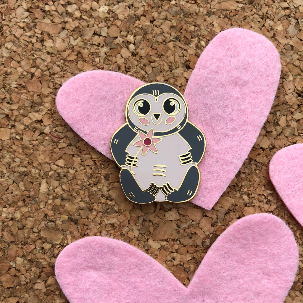 Happy Sloth - Enamel Pin