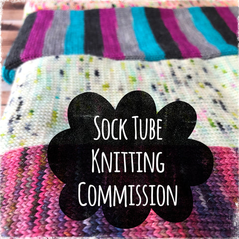 A Sock Tube Knitting Commission Request - Now 64 OR 72 stitch!!