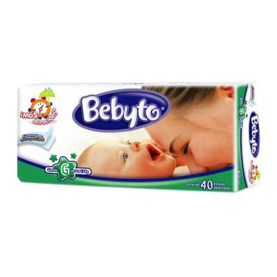 Bebyto Diapers Large (40 ct)