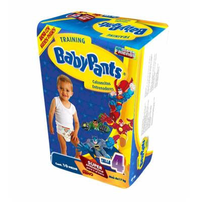Baby Pants Training Pants Boy Size 4 (10 ct)