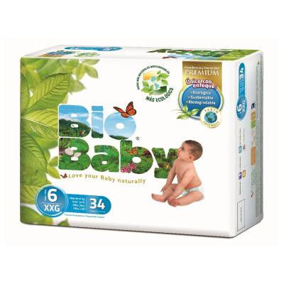 Bio Baby Disposable Diapers XXLarge (34 ct)