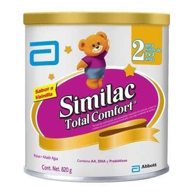 Similac Total Comfort dairy formula, stage 2, 1 to 3 years, 820g