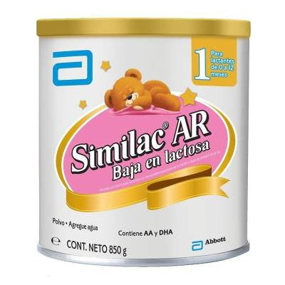 Similac Ar low-lactose dairy formula, stage 1, 0 to 12 months, 850g
