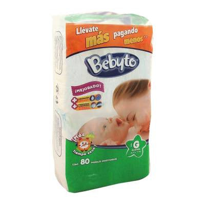 Bebyto Diapers Large (80 ct)