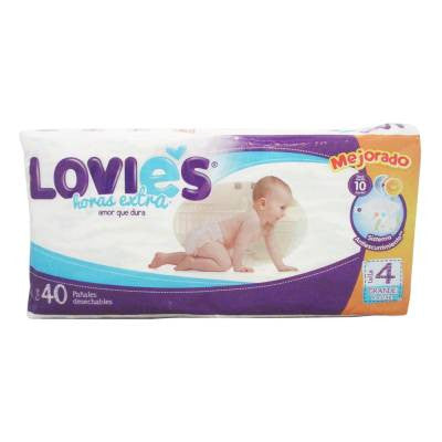 Lovies Disposable Diapers (40 ct)