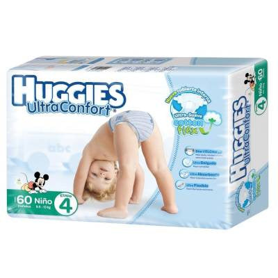 Huggies Ultraconfort Diapers, Size 4, Boy (60 ct)