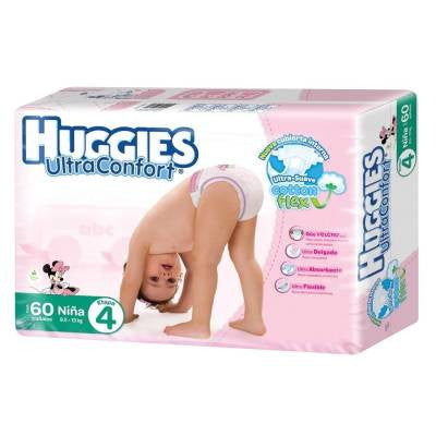 Huggies Ultraconfort Diapers, Size 4, Girl (60 ct)
