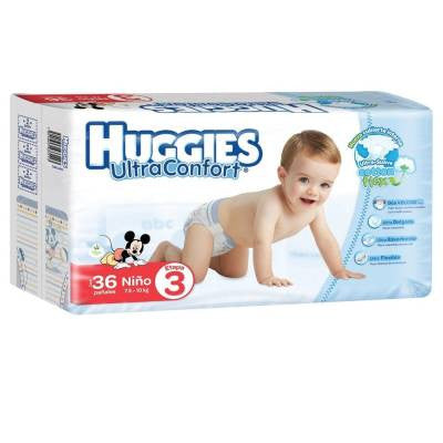 Huggies Ultraconfort Diapers, Size 3, Boy (36 ct)