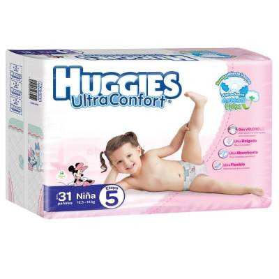 Huggies Ultraconfort Diapers, Size 5, Girl (31 ct)