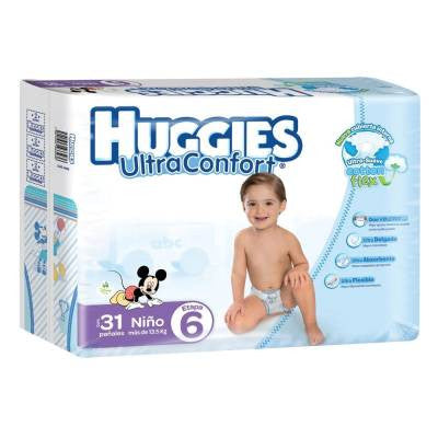 Huggies Ultraconfort Diapers, Size 6, Boy (31 ct)
