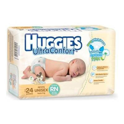 Huggies UltraConfort Diapers, Newborn (24 ct)
