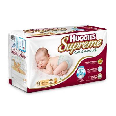 Huggies Supreme Diapers, Newborn (24 ct)