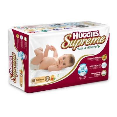 Huggies Supreme Diapers, Size 2 (36 ct)