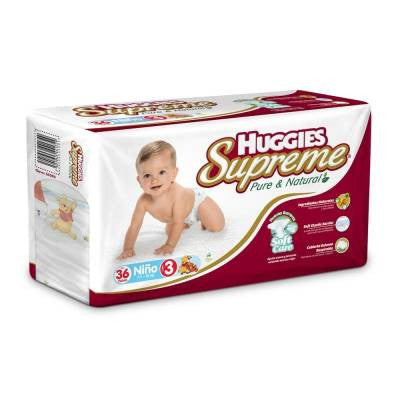 Huggies Supreme Diapers, Size 3, Boy (36 ct)