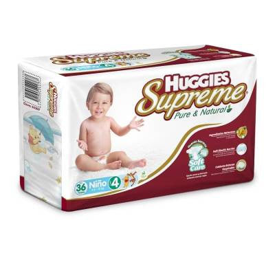 Huggies Supreme Diapers, Size 4, Boy (36 ct)