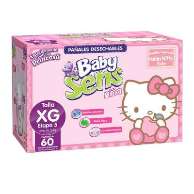 Baby Sens Diapers Girl Size 5 (60 ct)