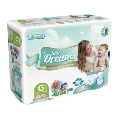 Soft Dreams Diapers, Size 4, Large (56 ct)