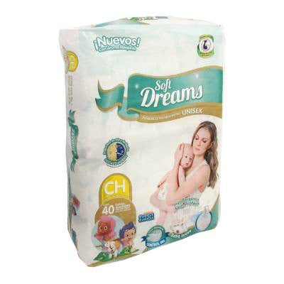 Soft Dreams Diapers, Small Size (40 ct)