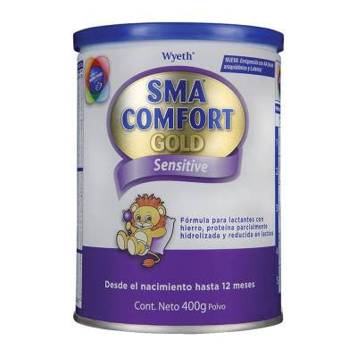 Sma Comfort Gold sensitive infant formula, 0 to 12 months, 400g