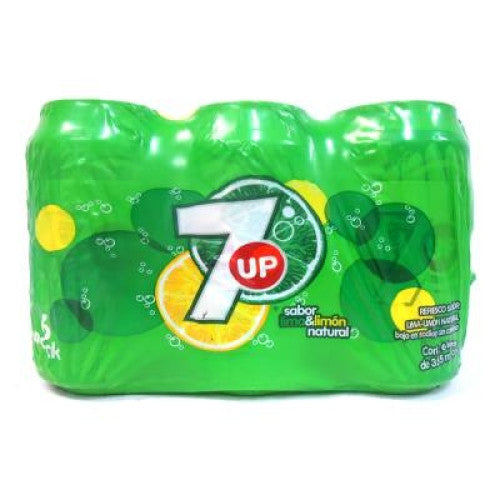 7UP Lemon Lime Soda Cans (6 Pack)