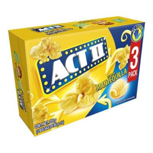 Act II Butter Lovers Microwave Popcorn (3 Pack)